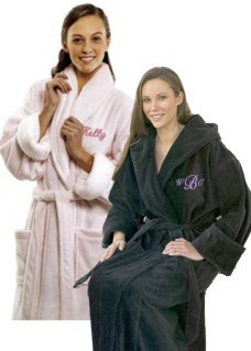 Monogrammed Plush Hooded Robe