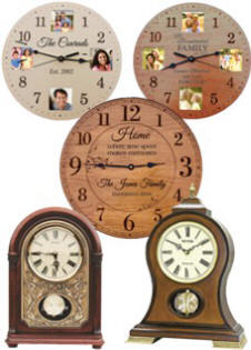 Personalized Wall Clocks and Mantel Clocks